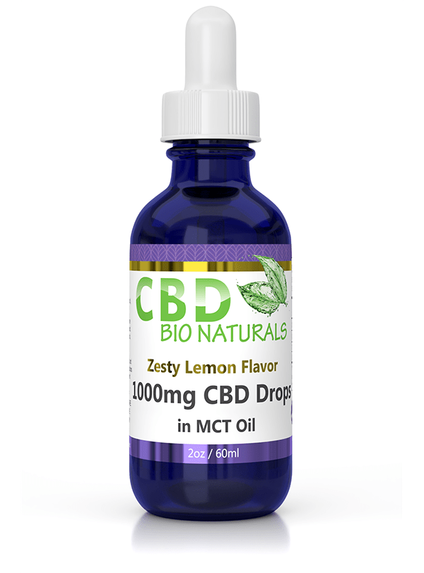 CBD Bionaturals full spectrum hemp in zesty lemon flavor